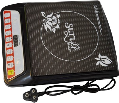 Surya PSEA8 Induction Cooktop(Black, Push Button)