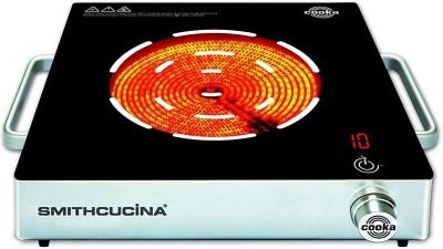 SMITHCUCINA COOKA SINGLE BURNER Radiant Cooktop(Black, Silver, Jog Dial) at flipkart