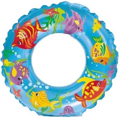 Intex Ocean Reef Transparent Inflatable Swim Ring(Blue)