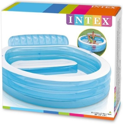 Intex Swim Luxury Lounge Inflatable Pool(Blue)