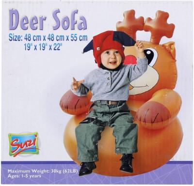 Suzi Deer Horse Inflatable Sofa(Brown)