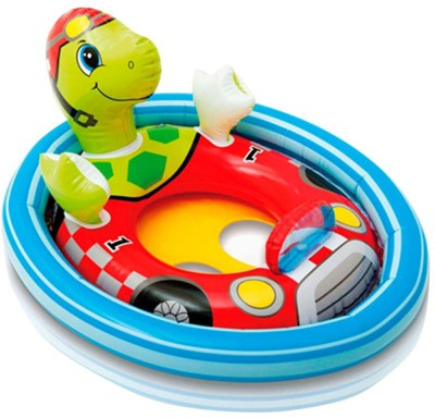 Intex Turtle See Me Sit Ring Inflatable Baby Float(Multicolor)