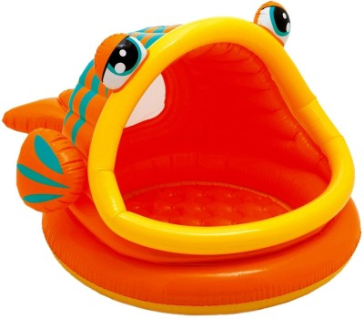 Intex Lazy Fish Shade Baby Pool Inflatable Pool(Multicolor)