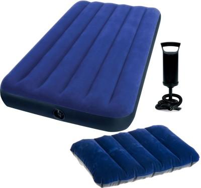 Intex PVC 1 Seater Inflatable Sofa(Color - Blue)
