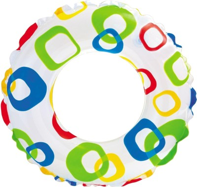 Intex Lively Print Swim Ring - Square Inflatable Water Games(Multicolor)