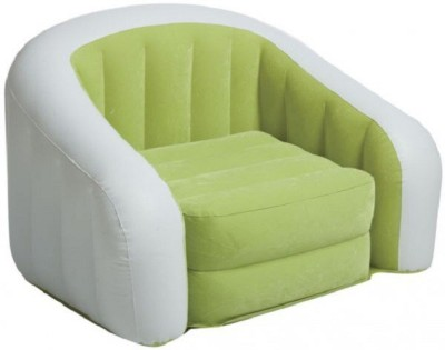 Intex Jilani Junior Cafe fro kids up to 7yrs Inflatable Sofa/ Chair(Green/white)  available at flipkart for Rs.1890