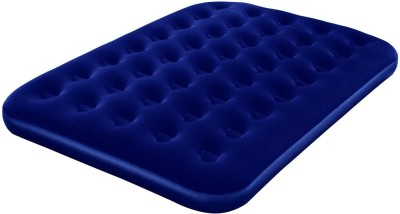 BESTWAY Karmax Flocked Air Bed(Double) PVC (Polyvinyl Chloride) 2 Seater Inflatable Sofa(Color - Blue, DIY(Do-It-Yourself))