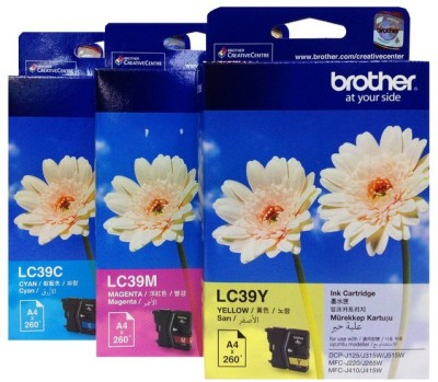 Brother LC39 3 Color Cartridge Multi Color Ink(Magenta, Cyan, Yellow)
