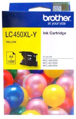 Brother LC450XL Yellow Original Cartridge Box Pack For Brother MFC- J5910DW MFC- J6710DW MFC- J6910DW Printers Single Color Ink(Yellow)