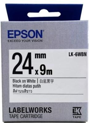 Epson 24 mm Black on White Tape Black Ink Toner