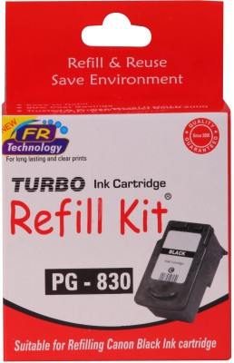 Turbo Ink Refill Kit For Canon Pg 830 Cartridge Single Color Ink(Black)  available at flipkart for Rs.364