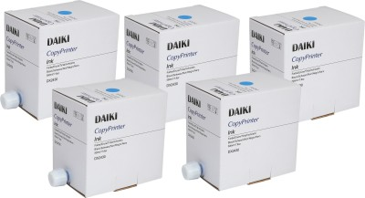 DAIKI DX 2430 Blue for use in Ricoh CopyPrinter, pack of 5 inks Single Color Ink Cartridge(Cyan)