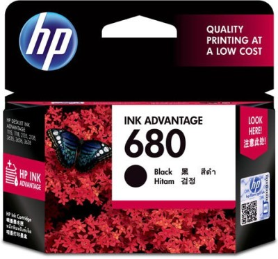 HP 680 Single Color Ink(Black)