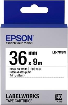 Epson 36 mm Black on White Tape Single Color Ink Toner Black