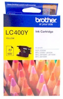 Brother LC400 Single Color Ink Cartridge(Yellow)