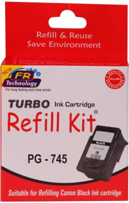Turbo Ink Refill Kit for Canon PG 745 cartridge Single Color Ink(Black)  available at flipkart for Rs.364