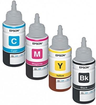 EPSON EPSON L210, L110, L220, L350, L565, l1300 ORIGINAL INK SET Multi Color Ink(Black, Magenta, Cyan, Yellow)  available at flipkart for Rs.290