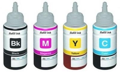 Fine Print Bottles Set of 4 Multi Color Ink(Black, Magenta, Cyan, Yellow)