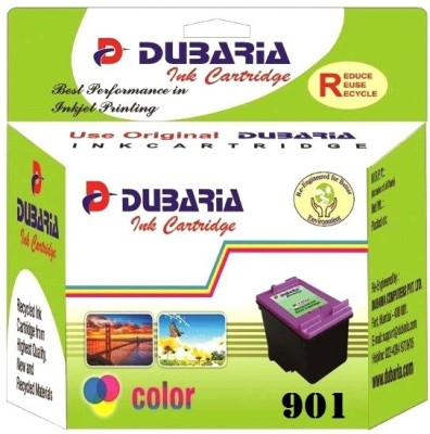 Dubaria 901 TriColor Ink Cartridge Compatible For HP 901 TriColor Ink Cartridge For Use In OfficeJet J4500, 4500, J4680 Printers Multi Color Ink(Cyan, Magenta, Yellow)