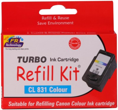 Turbo Ink Refill Kit For Canon Cl 831 Cartridge: Multi Color Ink(Magenta, Cyan, Yellow)  available at flipkart for Rs.560