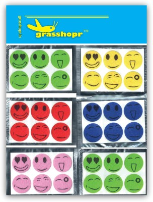Grasshopr Smiley-MIX30 Mosquito Repellent Patches(30 g, Pack of 30)
