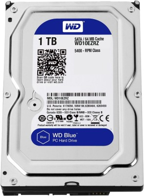 WD Blue 1 TB Desktop Internal Hard Disk Drive (WD10EZRZ)