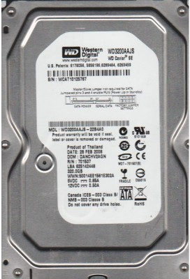 Western Digital Wd Caviar 320 GB Desktop Internal Hard Disk Drive (WD3200AAJS)