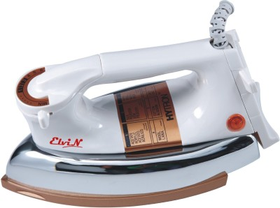 Elvin Plancha Gold Heavy Weight Electric 750 W 750 W Dry Iron(Multicolor, White)
