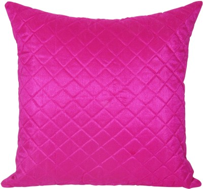 Zikrak Exim Self Design Cushions Cover(40 cm*40 cm, Pink) at flipkart