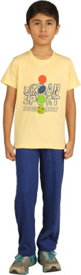 Sand Beach Kids Nightwear Boys Printed Cotton(Multicolor Pack of 1)