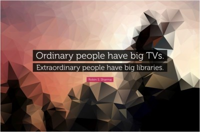 Extraordinary People Have Big Libraries Quote Poster Paper Print(12 inch X 18 inch, Rolled)  available at flipkart for Rs.169