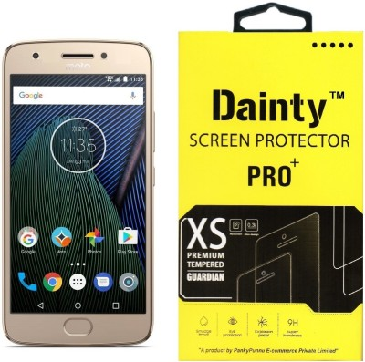 Dainty Tempered Glass Guard for Moto G5 (5 inch, Gold) (Full Glass)(Pack of 1)