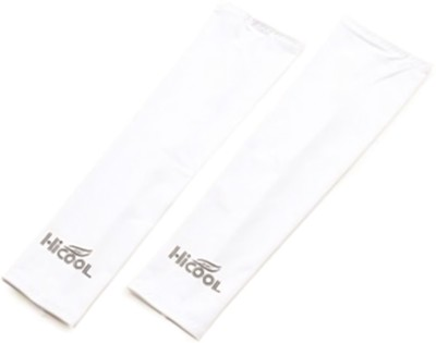DeNovo HiCool UV Protection Arm Sleeves (1 Pair) Fitness Band(White)  available at flipkart for Rs.109