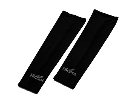 DeNovo HiCool UV Protection Arm Sleeves (1 Pair) Fitness Band(Black)  available at flipkart for Rs.109