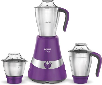 HAVELLS Mixer Grinder Gracia 750 W Mixer Grinder (3 Jars, Purple)