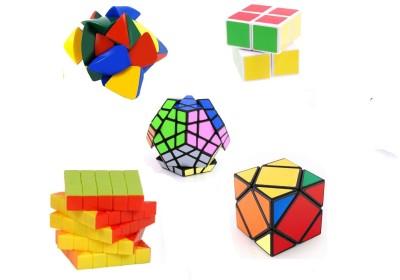 Mayatra's Combo Of Shengshou 2x2x2, Master Pyramorphix, Stickerless 5X5 Wind Speed Rubik Cube ,Shengshou Magic Puzzle Square 3x3x3 Cube & Shengshou Meagamix (5 pcs)(5 Pieces)  available at flipkart for Rs.2199