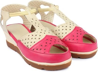 Shezone Women Pink, Beige Wedges Shezone Wedges