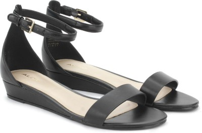ALDO Women Black Wedges at flipkart