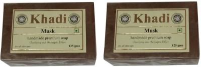 Khadi Herbal Musk Soap(250 g, Pack of 2)