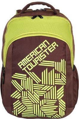 American Tourister AMT CRUNK 2017 21 L Backpack Green, Brown