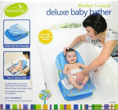 Mastela Mastela Deluxe Baby Bather - 07260 (Blue) Baby Bath Seat(Blue) at flipkart