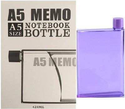 VibeX ® A5 Ultra Slim Notebook Creative A-5 Memo Water Bottle 420 ml(Purple)