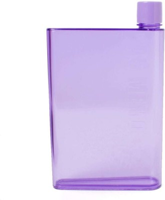 VibeX ™ Sleek & Portable A-5 Memo Water Bottle 420 ml(Purple)