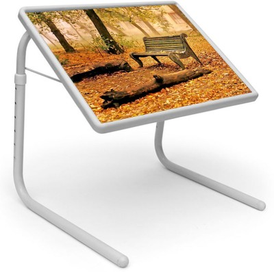 Shopper52 Plastic Portable Laptop Table(Finish Color - Brown)