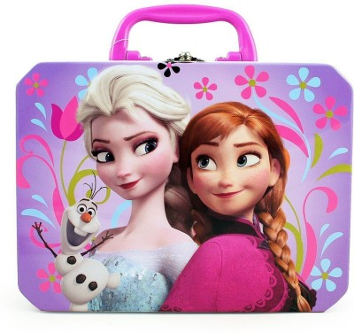 Disney Frozen Elsa, Anna & Olaf Deluxe Purple Tin Lunch� 1 Containers Lunch Box(500 ml) at flipkart