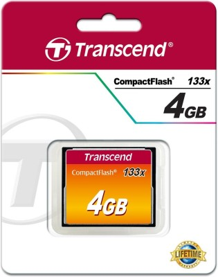 Transcend Compact Flash 4 GB SD Card UHS Class 1 50 MB/s  Memory Card