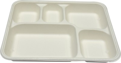 Ezee ECO FRIENDLY 5 COMPARTMENT FOOD TRAY 10pcs (Pack of 5) Tray Set(Pack of 5) at flipkart