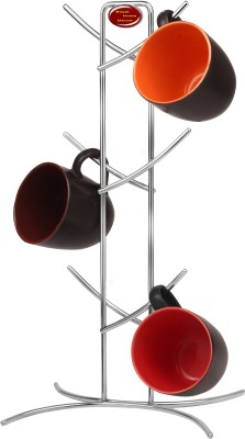Royal Home Decor Cup Tree Stainless Steel Wall Shelf(Number of Shelves - 1, Silver) at flipkart