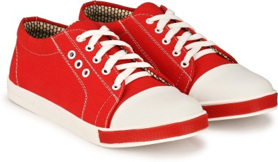 Prolific Canvas Shoes For Men(Red)
