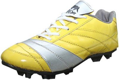Port Cresenty Football Shoes For Men(Yellow, Grey)